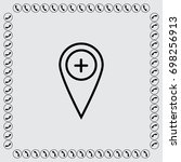 map pointer with minus sign... | Shutterstock .eps vector #698256913