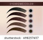 female eyebrow colorful  black  ... | Shutterstock .eps vector #698257657