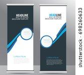 roll up business brochure flyer ... | Shutterstock .eps vector #698260633