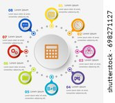 infographic template with... | Shutterstock .eps vector #698271127