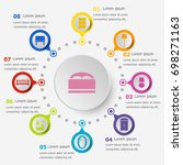 infographic template with... | Shutterstock .eps vector #698271163