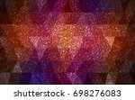 dark pink  red vector christmas ... | Shutterstock .eps vector #698276083