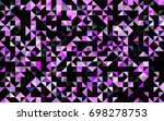 light pink vector low poly...   Shutterstock .eps vector #698278753