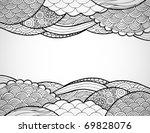 hand drawn line art frame. | Shutterstock .eps vector #69828076