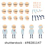 professor in light lab coat...   Shutterstock .eps vector #698281147