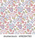 seamless pattern  with flower... | Shutterstock .eps vector #698284783