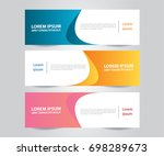 set of modern colorful banner... | Shutterstock .eps vector #698289673