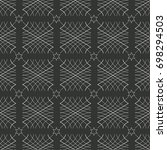 seamless pattern of wavy lines. ...   Shutterstock .eps vector #698294503