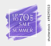summer sale up to 70 percent... | Shutterstock .eps vector #698295313