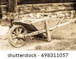 Old Wheelbarrow   Nice Closeup...