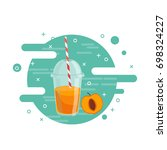 fruit fresh smoothie drink... | Shutterstock .eps vector #698324227