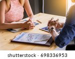 talking about business....   Shutterstock . vector #698336953