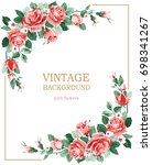 background greeting card with... | Shutterstock .eps vector #698341267