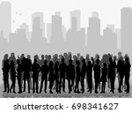 vector  isolated  silhouette of ... | Shutterstock .eps vector #698341627