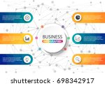business data visualization.... | Shutterstock .eps vector #698342917