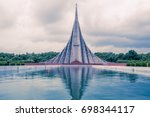 national martyrs' memorial is... | Shutterstock . vector #698344117