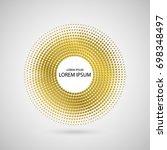 golden abstract circle. a frame ... | Shutterstock .eps vector #698348497