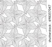 hand drawn pattern with... | Shutterstock .eps vector #698357047