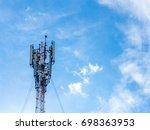 an antenna  the medium of... | Shutterstock . vector #698363953