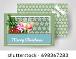 front and back christmas... | Shutterstock .eps vector #698367283