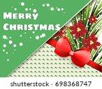 greetings card  style modern... | Shutterstock .eps vector #698368747