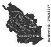 cologne city map germany de... | Shutterstock .eps vector #698368867