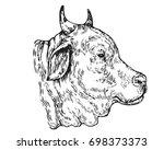 vintage hand drawing muslim... | Shutterstock .eps vector #698373373