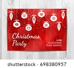 christmas party invitation card. | Shutterstock .eps vector #698380957