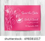 save the date invitation card. | Shutterstock .eps vector #698381017