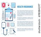 health insurance concept... | Shutterstock . vector #698384197