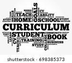 curriculum word cloud collage ...   Shutterstock .eps vector #698385373