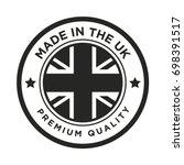 made in the uk badge | Shutterstock .eps vector #698391517