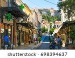 athens  greece   june 13  2017  ...   Shutterstock . vector #698394637