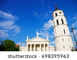 cathedral of vilnius is the... | Shutterstock . vector #698395963