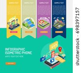 infographic isometric phone | Shutterstock .eps vector #698397157