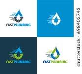 fast plumbing   vector... | Shutterstock .eps vector #698402743