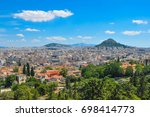 aerial view of the suburbs of... | Shutterstock . vector #698414773
