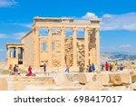 athens  greece   june 12  2017  ... | Shutterstock . vector #698417017