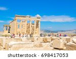 athens  greece   june 12  2017  ... | Shutterstock . vector #698417053