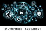 personal data information... | Shutterstock . vector #698428597