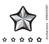 star icons isolated on white... | Shutterstock .eps vector #698435587