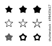 star icons isolated on white... | Shutterstock .eps vector #698435617