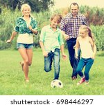 summer activity   positive... | Shutterstock . vector #698446297