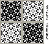 tiles seamless collection ... | Shutterstock .eps vector #698459137