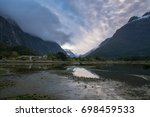 scenic view of mountain with... | Shutterstock . vector #698459533