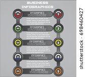 business infographic vector... | Shutterstock .eps vector #698460427
