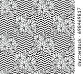 black and white seamless...   Shutterstock .eps vector #698469817