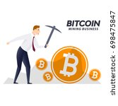 bitcoin cryptocurrency mining... | Shutterstock .eps vector #698475847