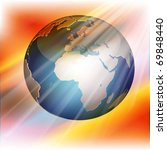 vector illustration with globe   Shutterstock .eps vector #69848440