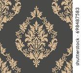 vector damask seamless pattern... | Shutterstock .eps vector #698487583